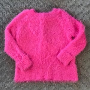 H&M Hot Pink Fuzzy Sweater 2-4 Years